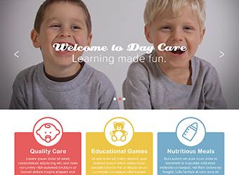 Daycare website design